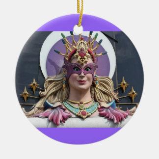 Ornament, round, Vegas # 1 Ceramic Ornament