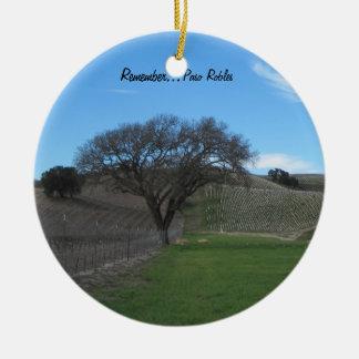Ornament: Scenic Paso Robles Vineyard Ceramic Ornament