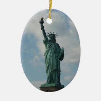 Ornament: Statue of Liberty Ceramic Oval Ornament