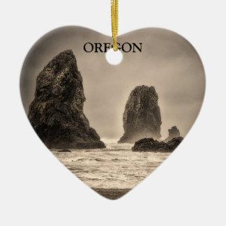 Ornament: The Needles 1 Toned (Heart) Ceramic Heart Ornament