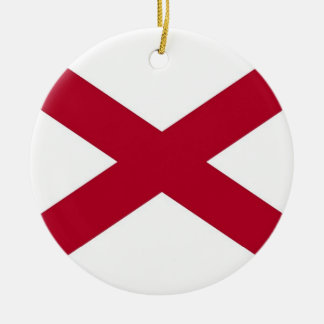Ornament with flag of Alabama