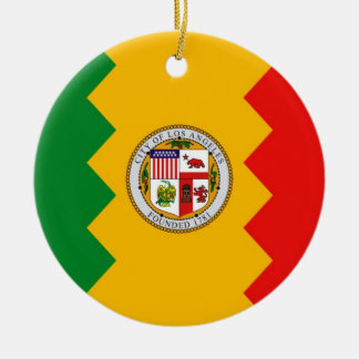 Ornament with flag of Los Angeles, California