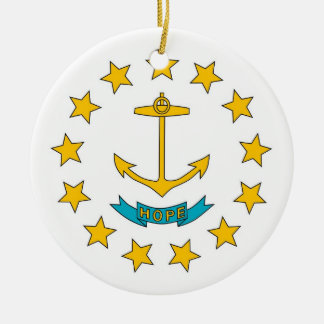 Ornament with flag of Rhode Island