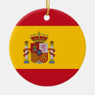 Ornament with flag of Spain