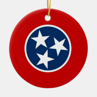 Ornament with flag of Tennessee