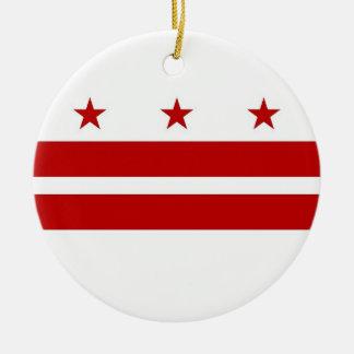 Ornament with flag of Washington DC