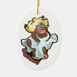 Ornament with funny hippo character