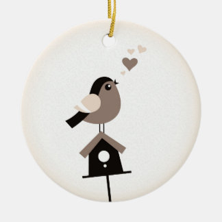 Ornament with singing Bird