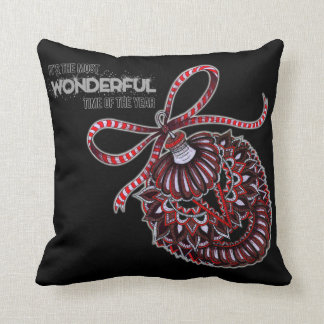 Ornament with Text Throw Pillow