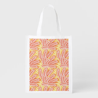 Ornament with wheat ears market totes