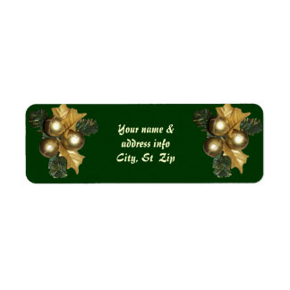 Ornament Wreath~two Return Address Label