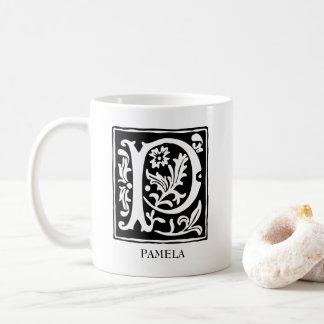 Ornamental Alphabet Letter P Personalized Coffee Mug
