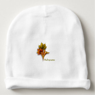 Ornamental Autumn Leaves Personalized Baby Beanie