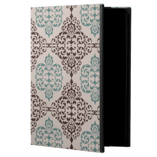 Ornamental Damask Style Pattern in Blue and Brown Powis iPad Air 2 Case