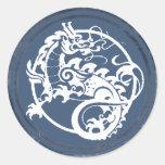 Ornamental Dragon Round Sticker
