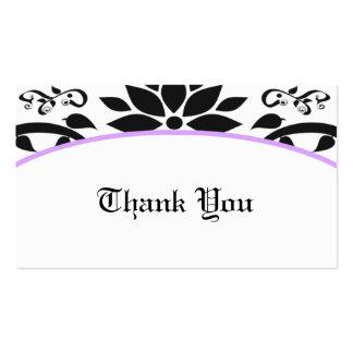 Ornamental Garden (lavender) Thank You Card Business Card Template