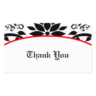 Ornamental Garden (red) Thank You Card Business Card