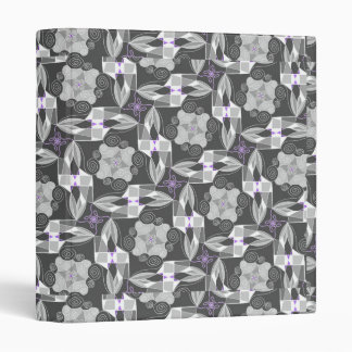 Ornamental Grey With Purple Binders