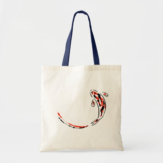 Ornamental Koi Fish Swimming Orange and Black Tote Bag