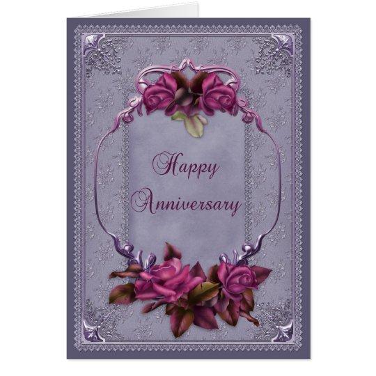 Ornamental Lace Anniversary Card