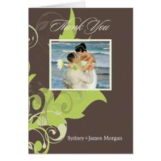 Ornamental Leaves/PhotoThank You Cards