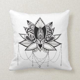 Ornamental Lotus Throw Pillow