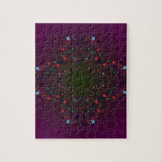 Ornamental Luxury Design cross / PURPLE Jigsaw Puzzle