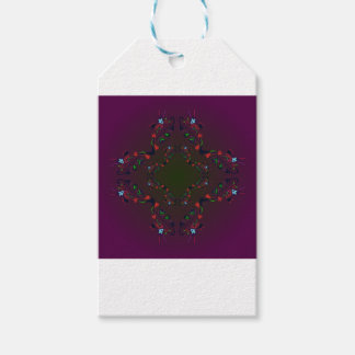 Ornamental Luxury Design cross / PURPLE Pack Of Gift Tags