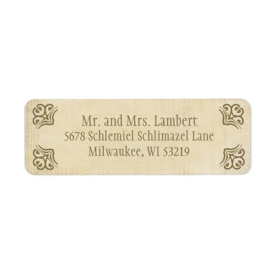 Ornamental Parchment  Customizable Return Address Label