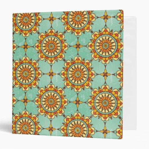 Ornamental pattern 3 ring binder