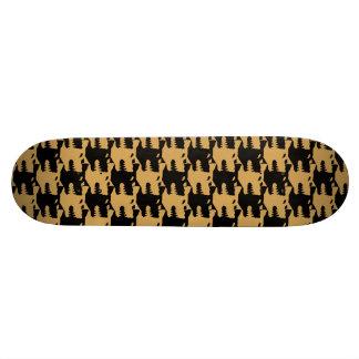 ornamental pattern wolf indomitable skate deck