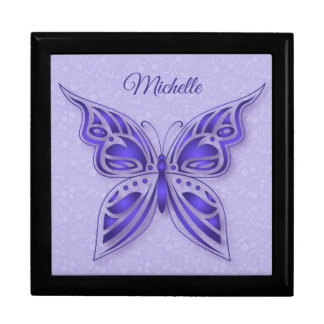 Ornamental Purple Butterfly Gift Box