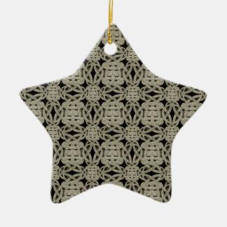 Ornamental Stone Pattern Ceramic Star Ornament