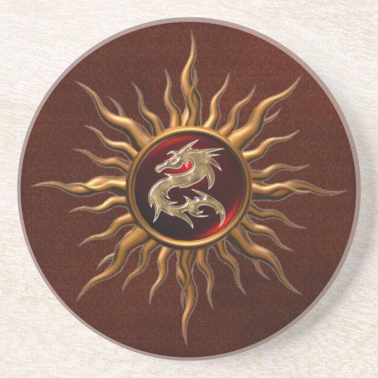 Ornamental Sun Dragon Coaster