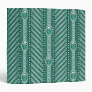 Ornamental Teal Pattern Vinyl Binders