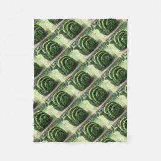 Ornamental topiary green garden snail bush fleece blanket