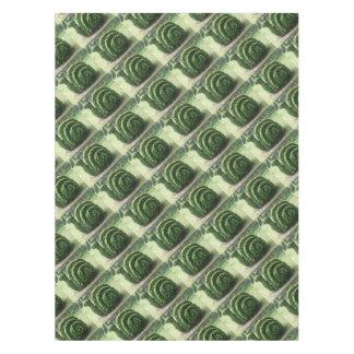 Ornamental topiary green garden snail bush tablecloth