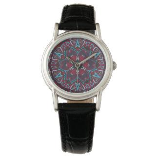 Ornamental tribal tradition circle pattern wristwatches