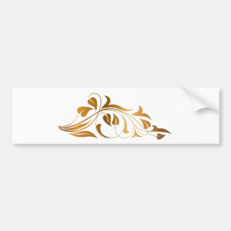 Ornamental white background bumper sticker