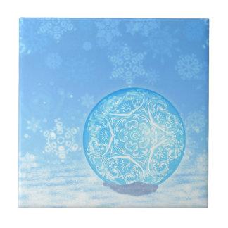 Ornamental Xmas Balls 3 Ceramic Tiles