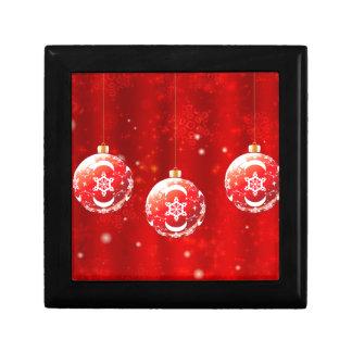 Ornamental Xmas Balls 4 Gift Box