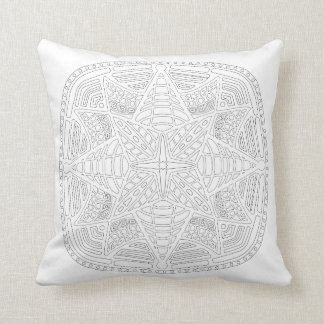 OrnaMENTALs #0019 Starburst Bling Color Your Own Throw Pillow