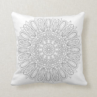 OrnaMENTALs #0025 Sunflower Delight Color Your Own Throw Pillows