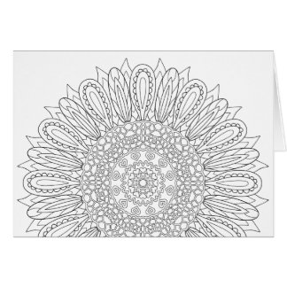 OrnaMENTALs #0025 Sunflower Delight Colour Your Card