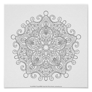 OrnaMENTALs #0030 Majestic Star Color Your Own Poster