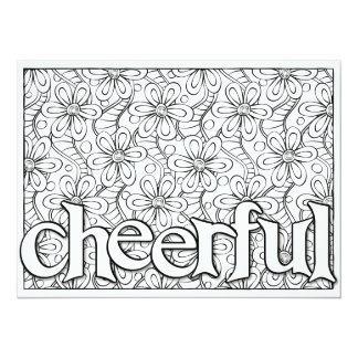 OrnaMENTALs #0104 Cheerful Garland Color Your Own Card