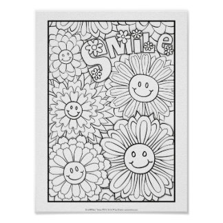OrnaMENTALs #0116 Smile Color Your Own Poster