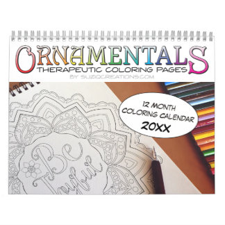 OrnaMENTALs 12-Month Therapeutic Coloring Pages Calendars