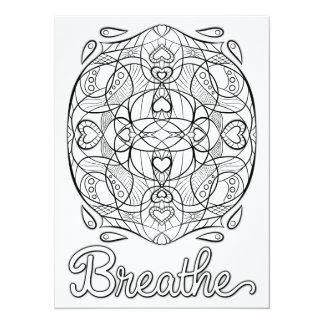 """OrnaMENTALs Breathe Color Your Own 5.5"""" X 7.5"""" Invitation Card"""