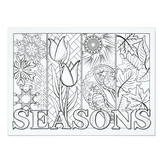 OrnaMENTALs Four Seasons Colour Your Own Card